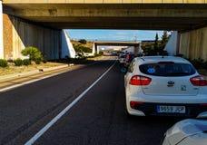 Castellon, Spain 02/09/19: Traffic jam stock photography