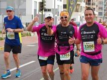 Castellon, Spanje 24 februari, 2019 de agenten tijdens een marathon rennen stock foto