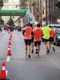 Castellon, Spanje 24 februari, 2019 de agenten tijdens een marathon rennen royalty-vrije stock afbeelding