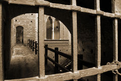 Castellosforzesco van Milaan, Milaan Stock Afbeeldingen