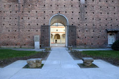 Castellosforzesco van Milaan, Milaan Royalty-vrije Stock Foto's