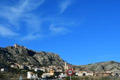 Castellote en Teruel, España foto de archivo libre de regalías