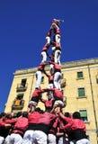 Castells, ανθρώπινοι πύργοι Tarragona, Ισπανία Στοκ Εικόνες