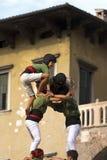 Castells Performance - Human Tower Stock Photos