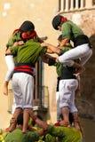 Castells Performance - Human Tower Royalty Free Stock Photos