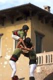 Castells Performance - Human Tower Stock Photo