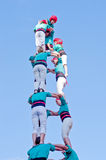 Castells Performance   in Torredembarra, Catalonia, Spain Stock Images