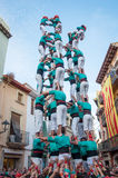Castells Performance   in Torredembarra, Catalonia, Spain Stock Image