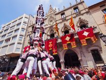 Castells in Terrassa Royalty Free Stock Photos