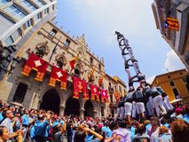 Castells in Terrassa Stock Photo