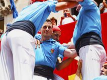 Castells in Terrassa Royalty Free Stock Photo