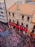 Castells in Terrassa Royalty Free Stock Image