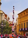 Castells in Terrassa Royalty Free Stock Images