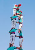 Castells występ w Torredembarra, Catalonia, Hiszpania Zdjęcie Royalty Free