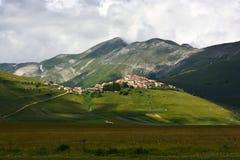 Castelluccio -翁布里亚-意大利 免版税库存图片