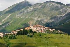 Castelluccio -翁布里亚-意大利 免版税库存照片