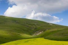 Castelluccio de Norcia - Umbría - Italia Imágenes de archivo libres de regalías