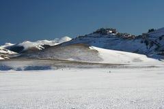 Castelluccio in de winter Stock Foto's