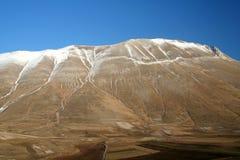 Castelluccio/detalle 4 de la montaña Fotos de archivo libres de regalías