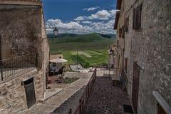Castelluccio di Norcia - Умбрия - Италия Стоковое Изображение RF