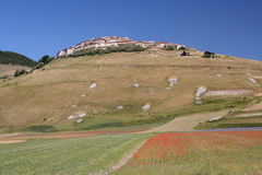 castelluccio di Norcia/视图 库存照片