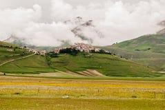 castelluccio di norcia 免版税图库摄影