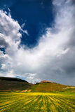 Castelluccio di Norcia Foto de archivo libre de regalías