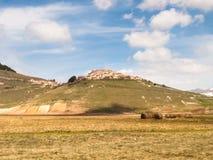 Castelluccio di Norcia big plan Royalty Free Stock Photos