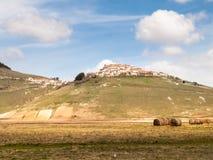 Castelluccio di Norcia big plan Stock Image