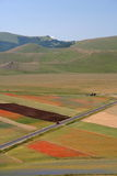 Castelluccio di Norcia / Coloured panorama Stock Photo