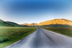 Castelluccio di Norcia, Itália Fotos de Stock