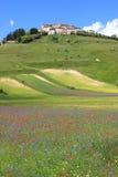 Castelluccio di Norcia in Italy Stock Images