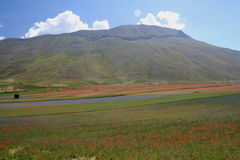 Castelluccio di Norcia / mountains view Stock Photography
