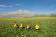 Castelluccio di Norcia in the Sibillini Park Stock Photography