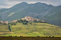 Castelluccio di Norcia & x28; Umbria& x29; Стоковые Фотографии RF