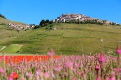 Castelluccio hamlet in italy Stock Images