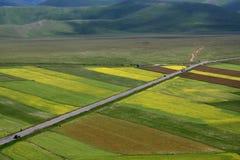 castelluccio krajobrazowa wiosna Zdjęcie Royalty Free