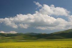 Castelluccio Landscape Stock Images