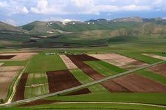 Castelluccio /spring landscape Stock Photos
