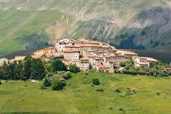 Castelluccio - Umbría - Italia Fotografía de archivo