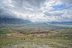 Castelluccio Umbra Italy landscape Stock Image