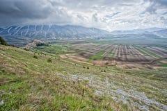 Castelluccio Umbra Italy landscape Stock Images