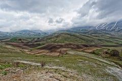 Castelluccio Umbra Italy landscape Royalty Free Stock Images