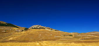 Castelluccio, Umbrië - Italië Royalty-vrije Stock Foto's