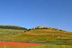 Castelluccio in Umbria - in Italia Fotografia Stock