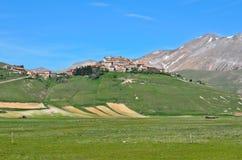 Castelluccio von Norcia in Italien Stockbilder