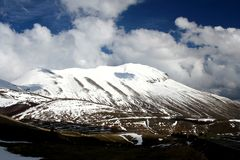 Castelluccio /winter landscape Royalty Free Stock Photography