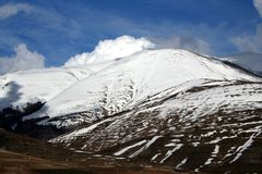 Castelluccio /winter landscape Royalty Free Stock Image