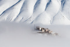 Free Castelluccio With Snow Stock Photo - 29898460