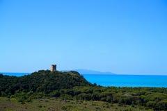 Castelmarino wierza Fotografia Royalty Free